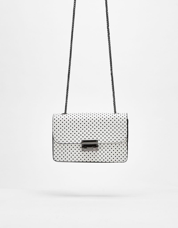 8b80e08f86d3d Klips kapamalı mini desenli çanta   Bag   Kadın