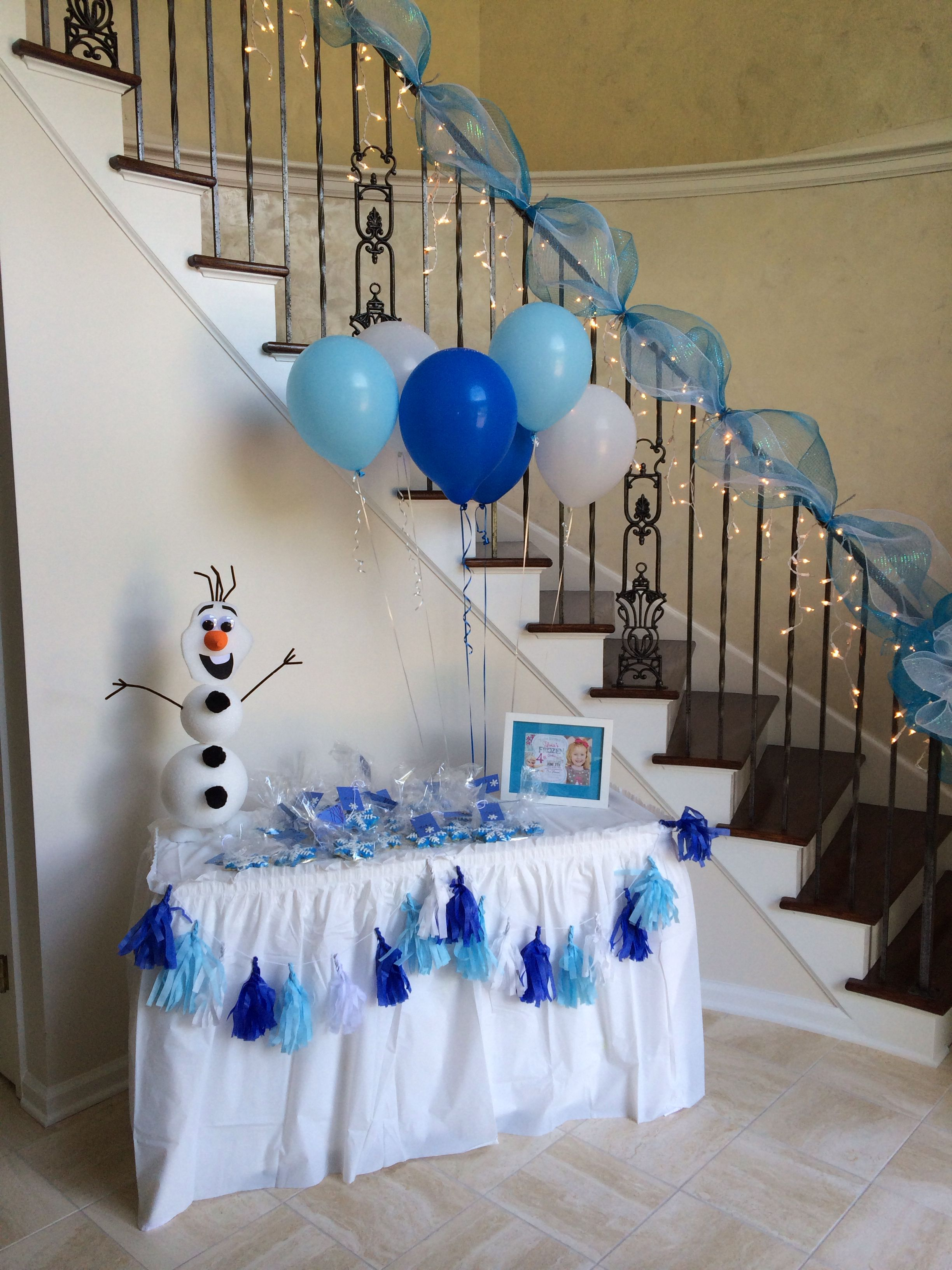 Decoration Olaf Anniversaire Frozen Birthday Party Simple But Super Cute Invite Our
