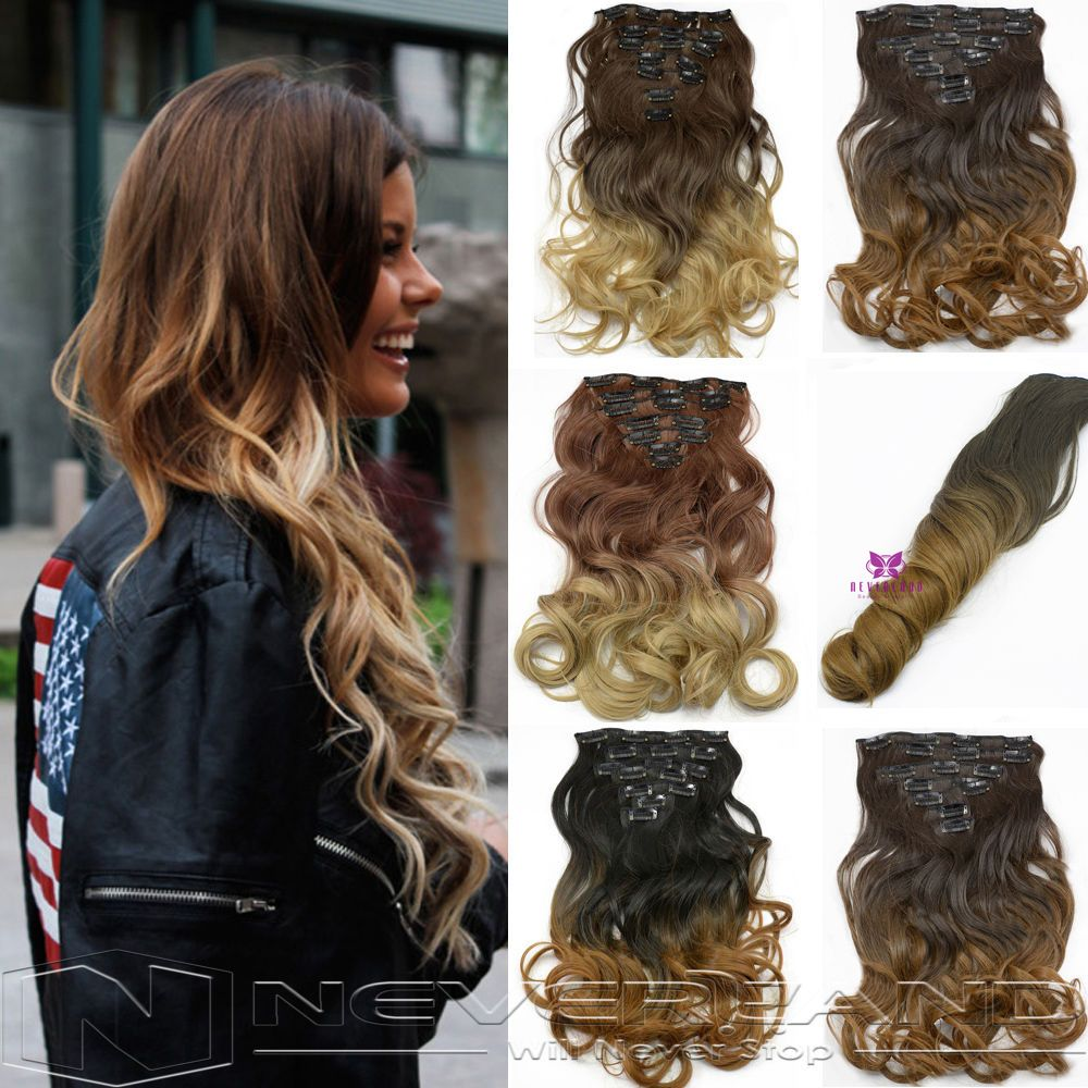 Set clips hair extension