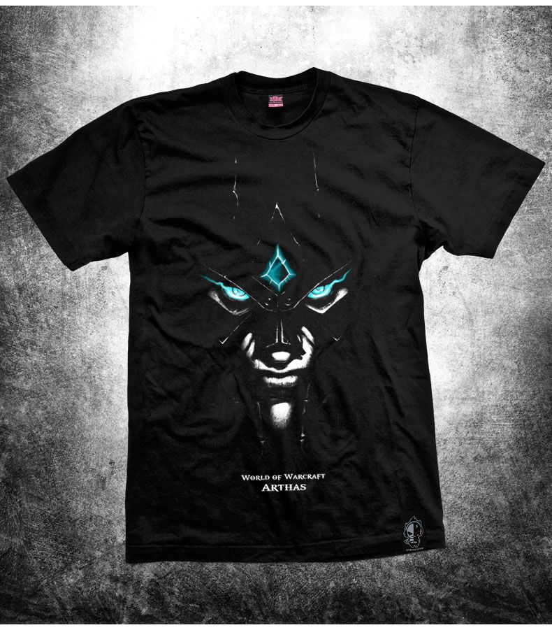World of Warcraft WOW Arthas Menethil Black T-shirts | World of ...