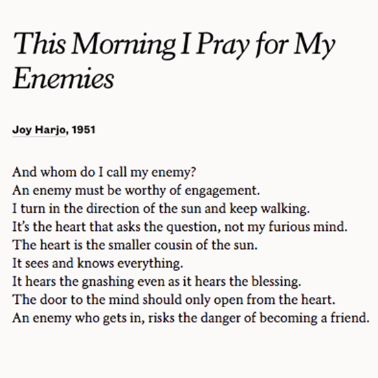 This Morning I Pray For My Enemies Writing Poetry Poems
