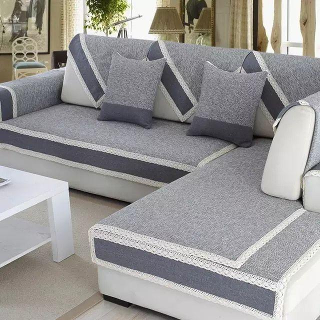 Online Shop L Shaped Sofa Cover Towel Pads W Pillow Case Warm
