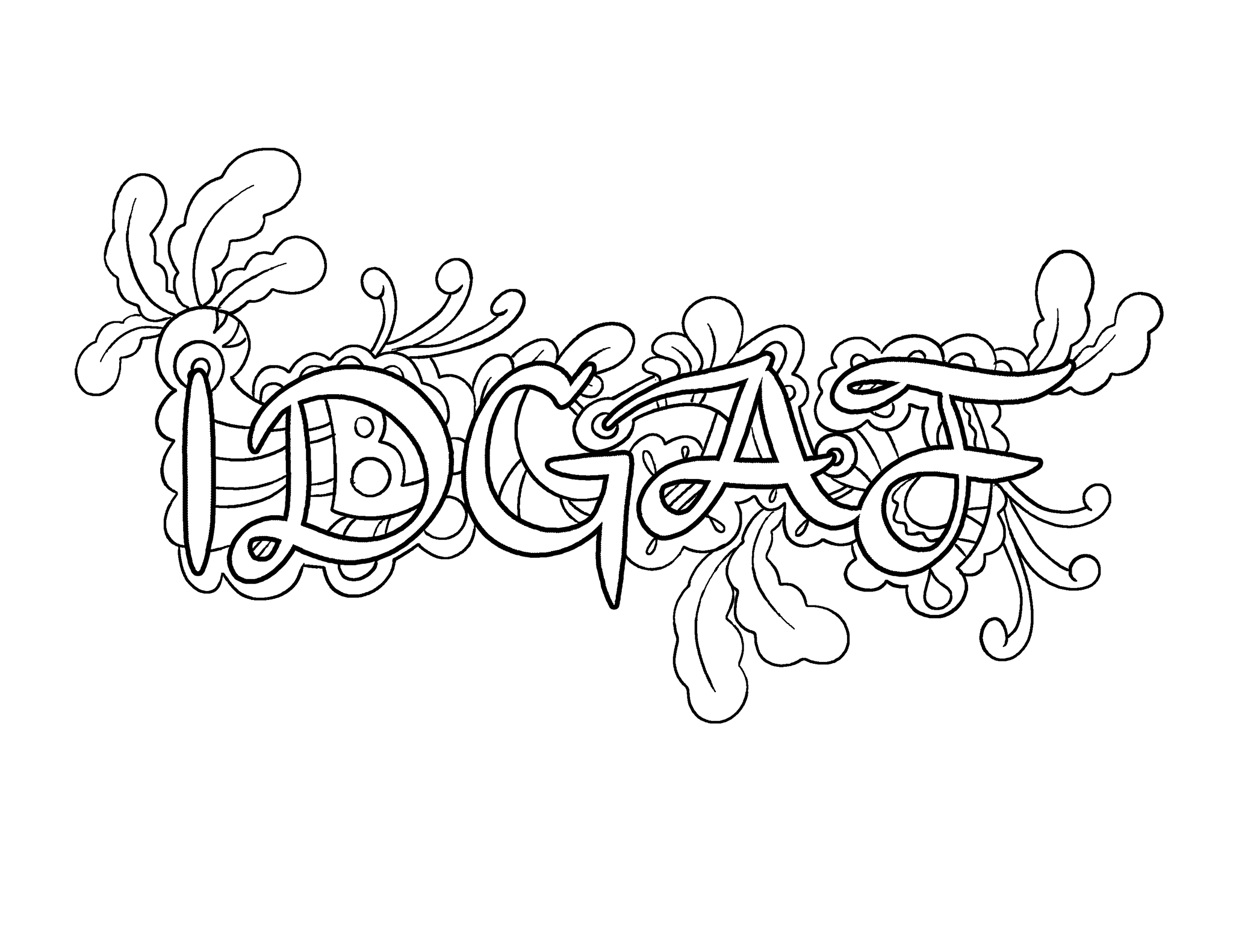 Swear word coloring book volume 1 - Idgaf Coloring Page By Colorful Language Posted With Permission