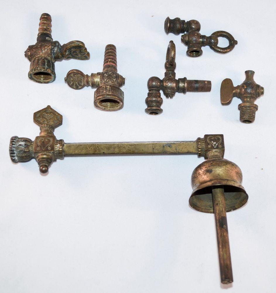 Antique victorian ornate brass gas lamp light fixture valve ebay antique victorian ornate brass gas lamp light fixture valve arubaitofo Images