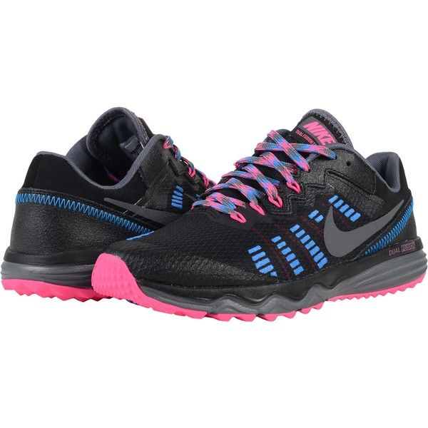 Nike Dual Fusion Trail 2 Black Pink Blast Photo Blue Dark Grey Women S Running Shoes Nike Dual Fusion Womens Running Shoes Black Pink