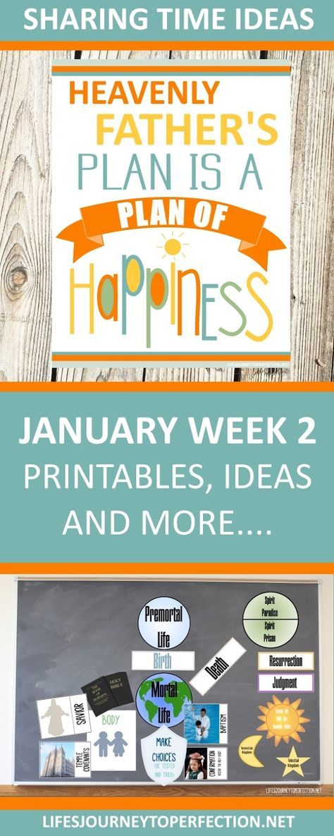 2018 Primary Sharing Time Ideas for January Week 2: Heavenly