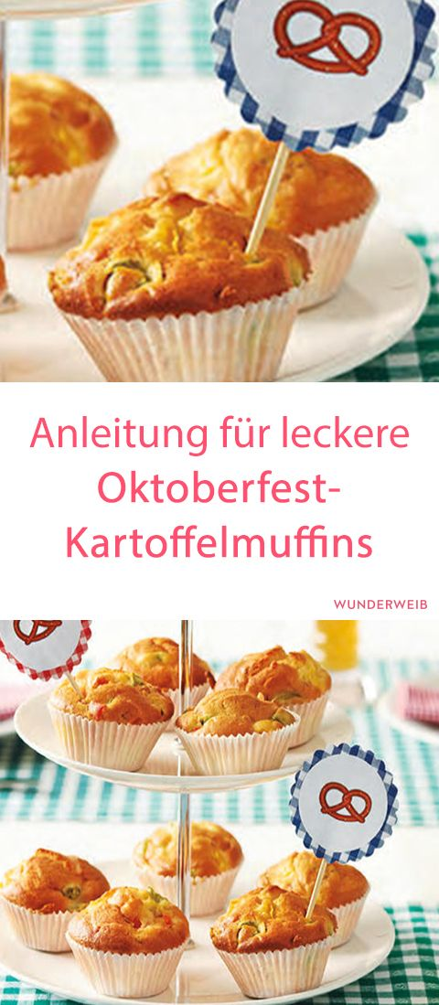 anleitung f r leckere oktoberfest kartoffelmuffins leckeres essen pinterest. Black Bedroom Furniture Sets. Home Design Ideas