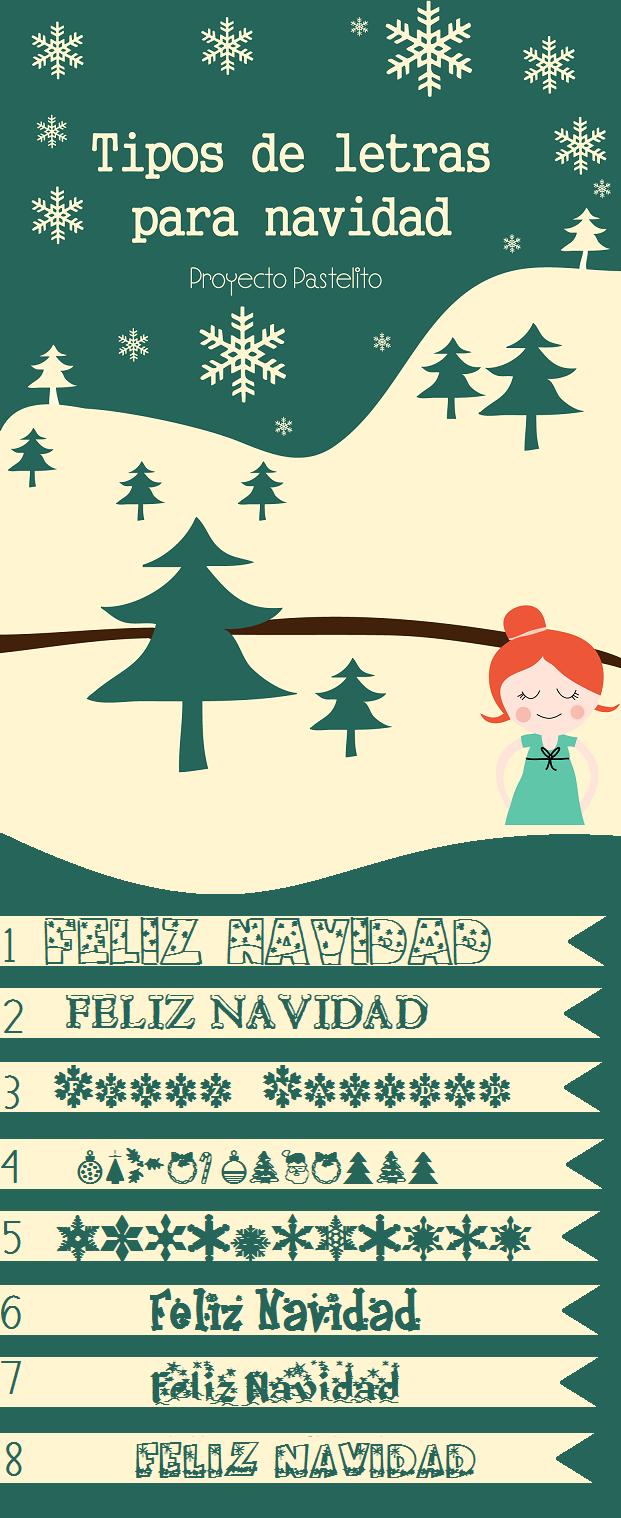 Tipos De Letras Para Navidad Proyecto Pastelito Christmas Fonts Lettering Christmas