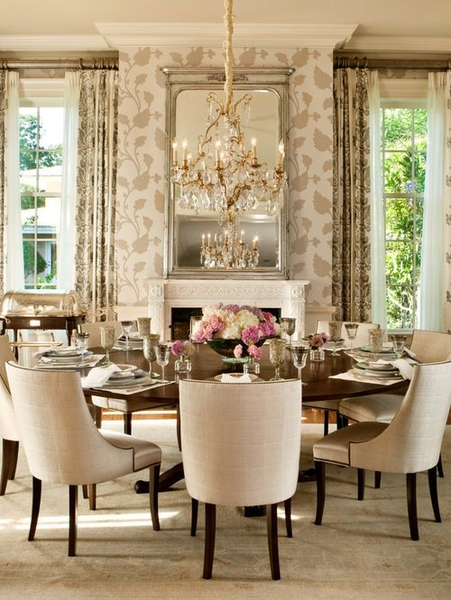 Elegant Round Dining Table Decor Houzz Ideas Design Remodel Pictures 21911