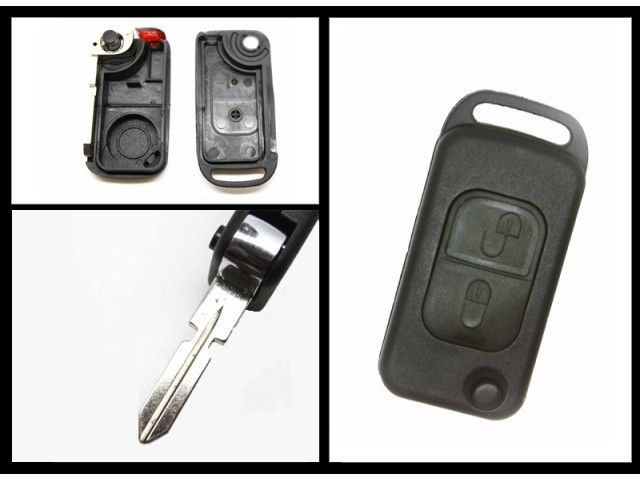 Replacement Mercedes Benz Key Fob 2 Buttons A Class MB