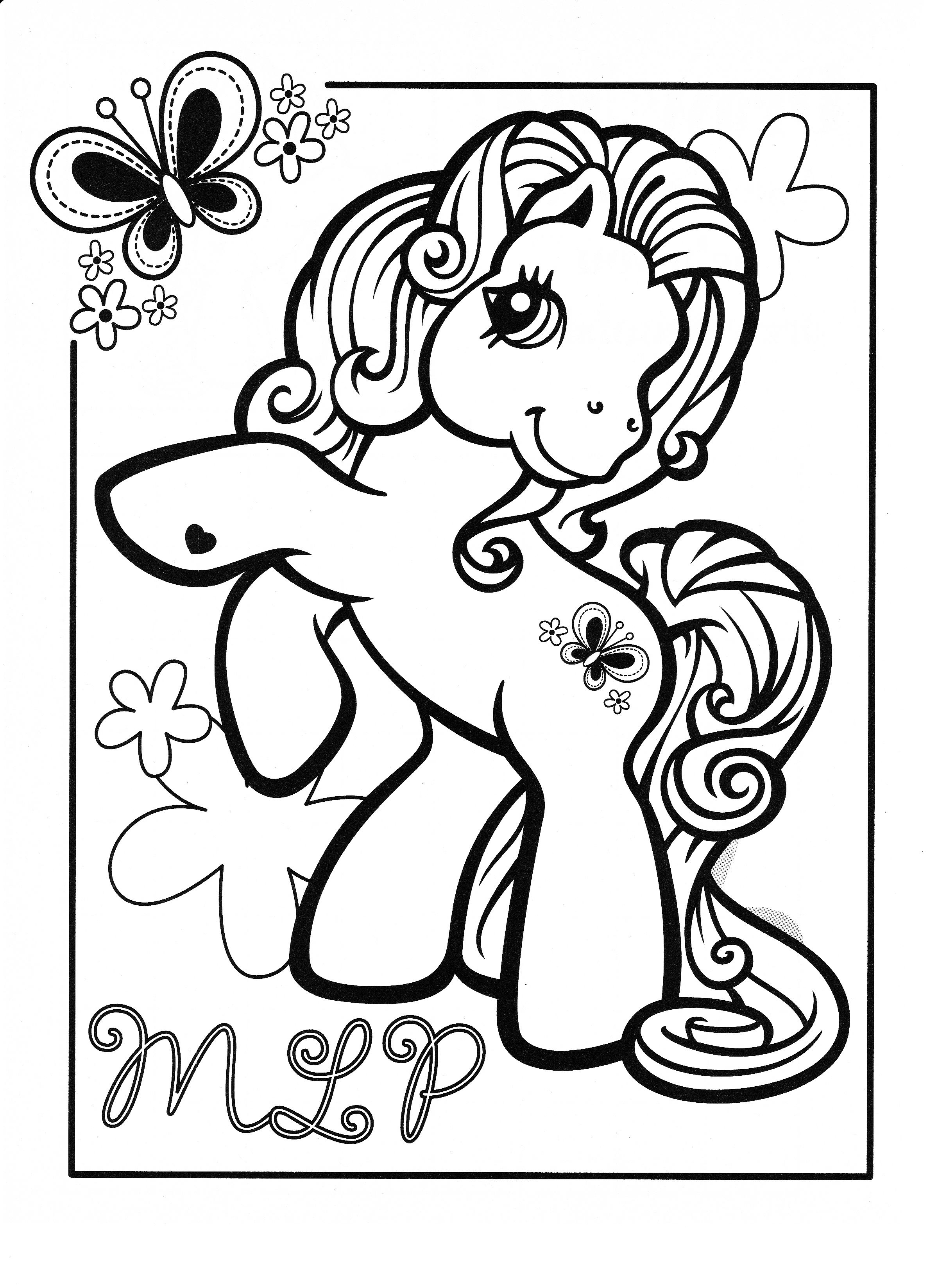 Vintage my little pony coloring pages - My Little Pony Coloring Page