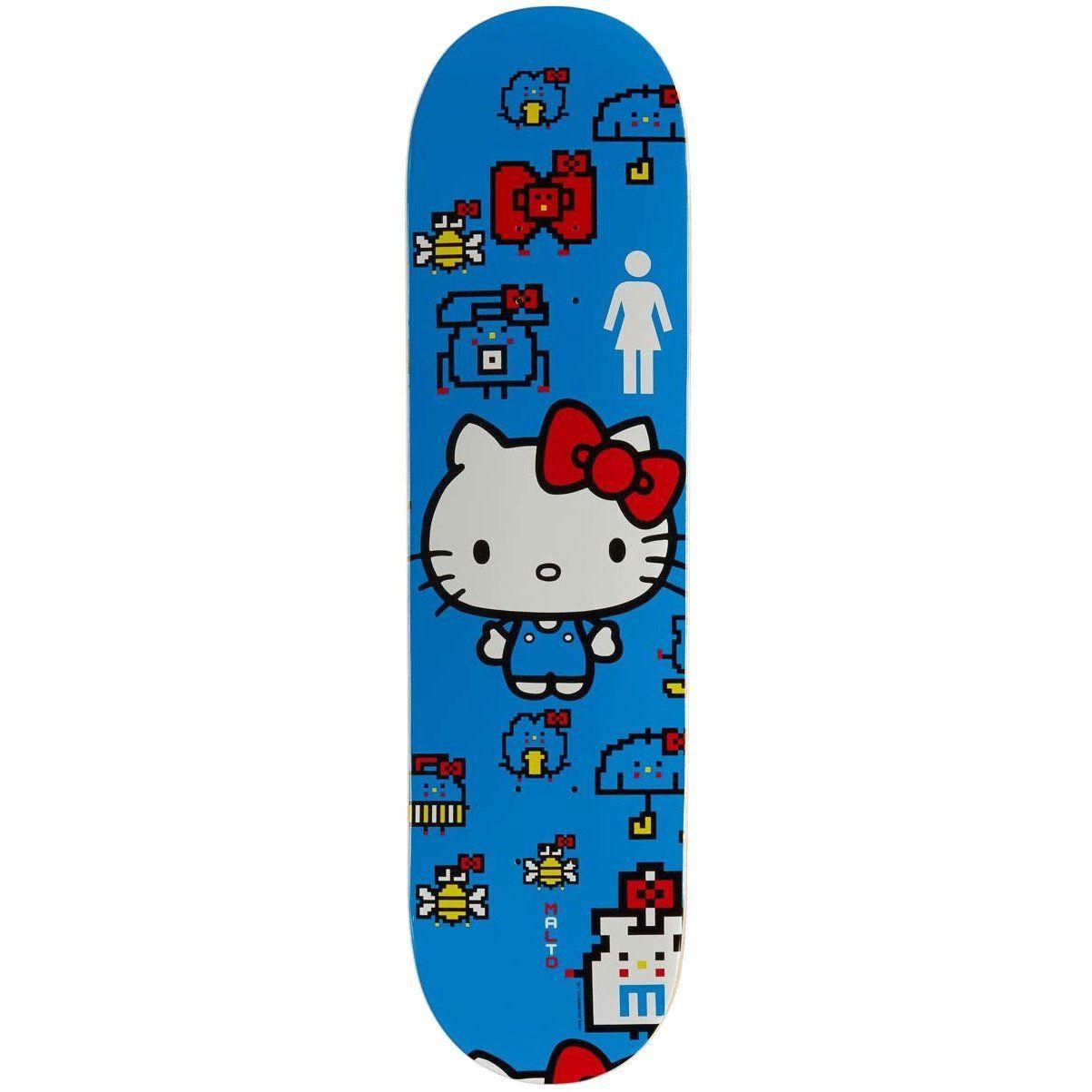 Girl Sean Malto Hello Kitty 60 Year Anniversary Skateboard