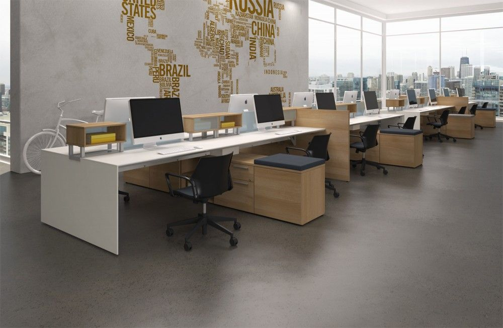 Modular office furniture modern workstations cool for Modern office space layout