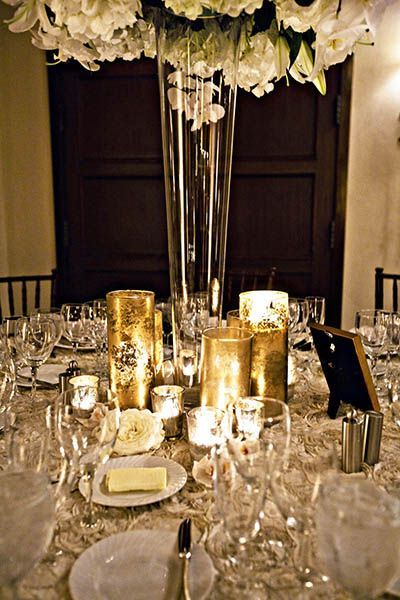 Wedding Ideas by Color: Gold and Silver | Gold wedding theme, Gold ...
