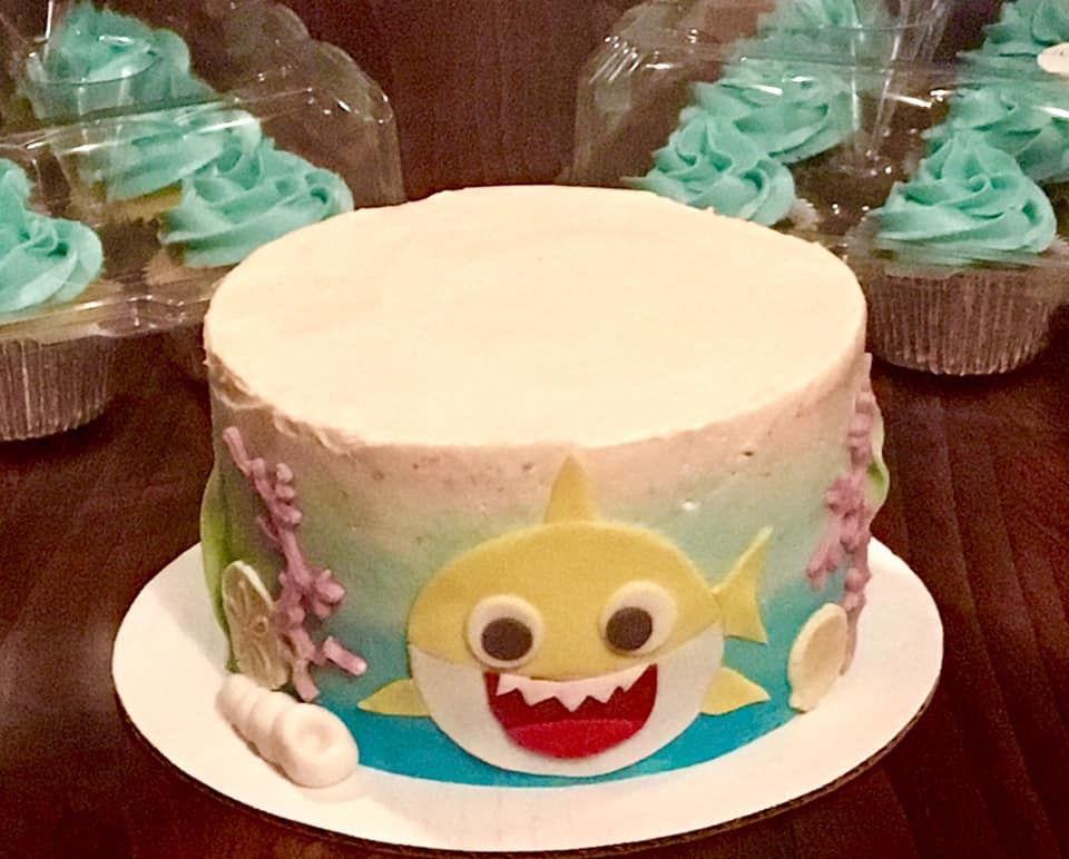 Baby shark cake cake shark cake birthday cake
