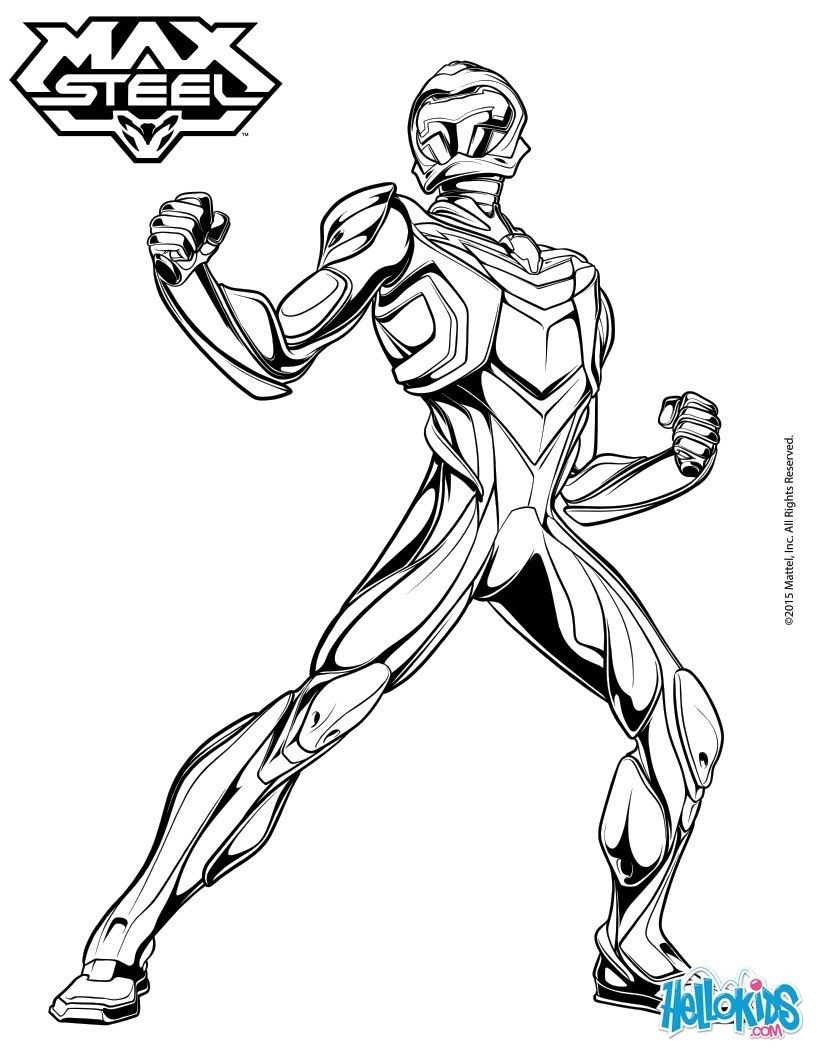 Coloring Pages Max Steel