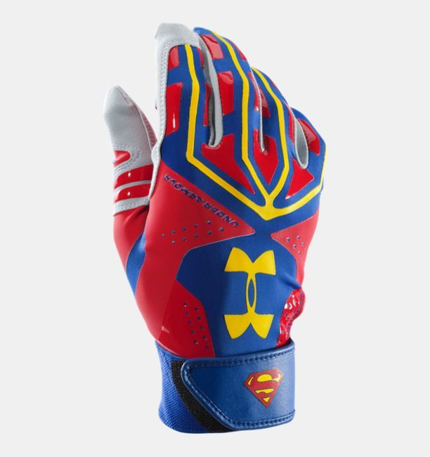 Cosmos Batter/'s Glove Mens Size Medium Left Hand Red And White Colors