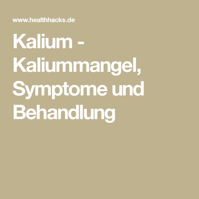 Symptome Bei Kaliummangel