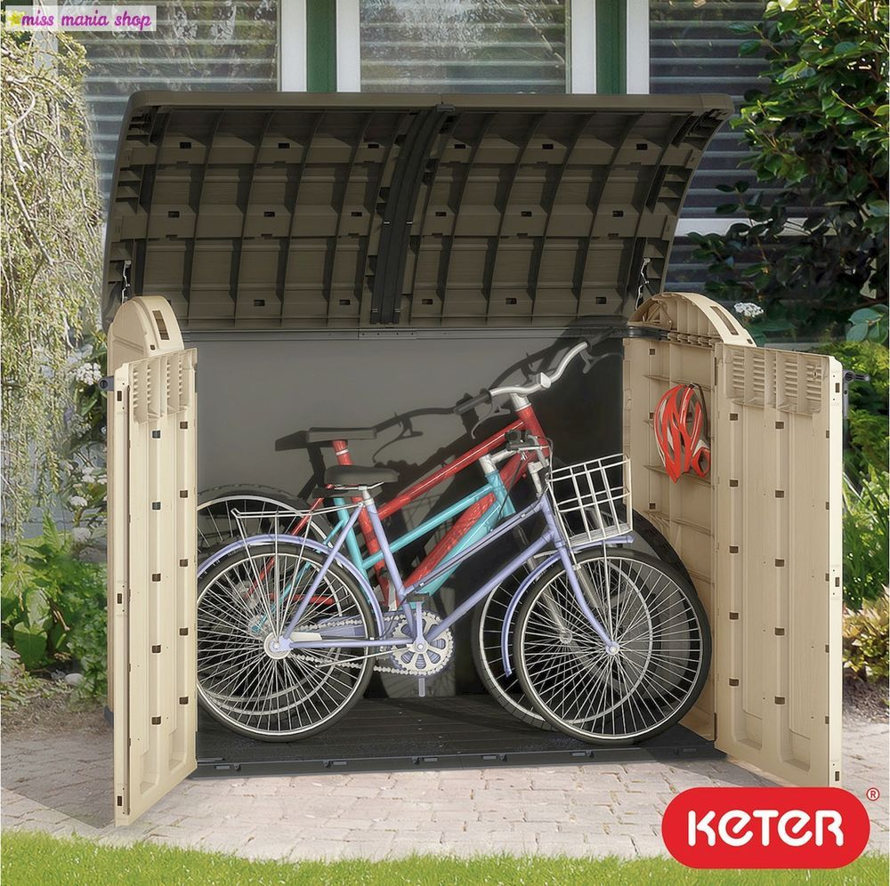 Garden Storage Extra Large Bikes Wheelie Bin Shed Box Patio Utility Sheds Xl New