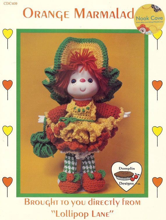 Orange Marmalade Doll Dumplin Designs Crochet Pattern//INSTRUCTIONS