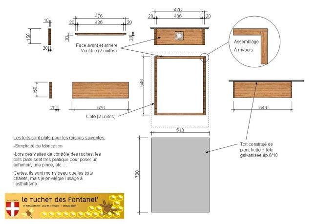 fabrication et plan de ruche dadant 10 cadres technologie pinterest ruches cadres et plans. Black Bedroom Furniture Sets. Home Design Ideas