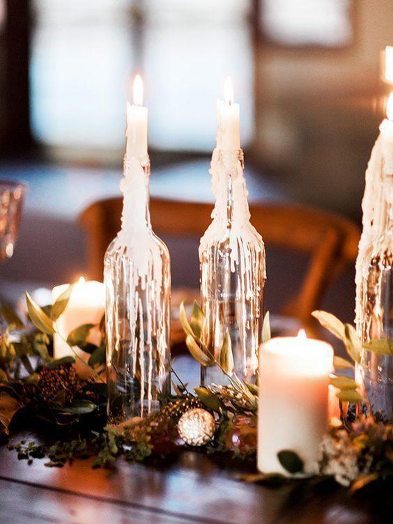 Tischplatte Mit Flasche Sehen Sie Schone Ideen Um Den Tisch Zu Dekorieren Neu Dekoration Stile Hochzeitsdekoration Dekoration Hochzeit Hochzeit Deko