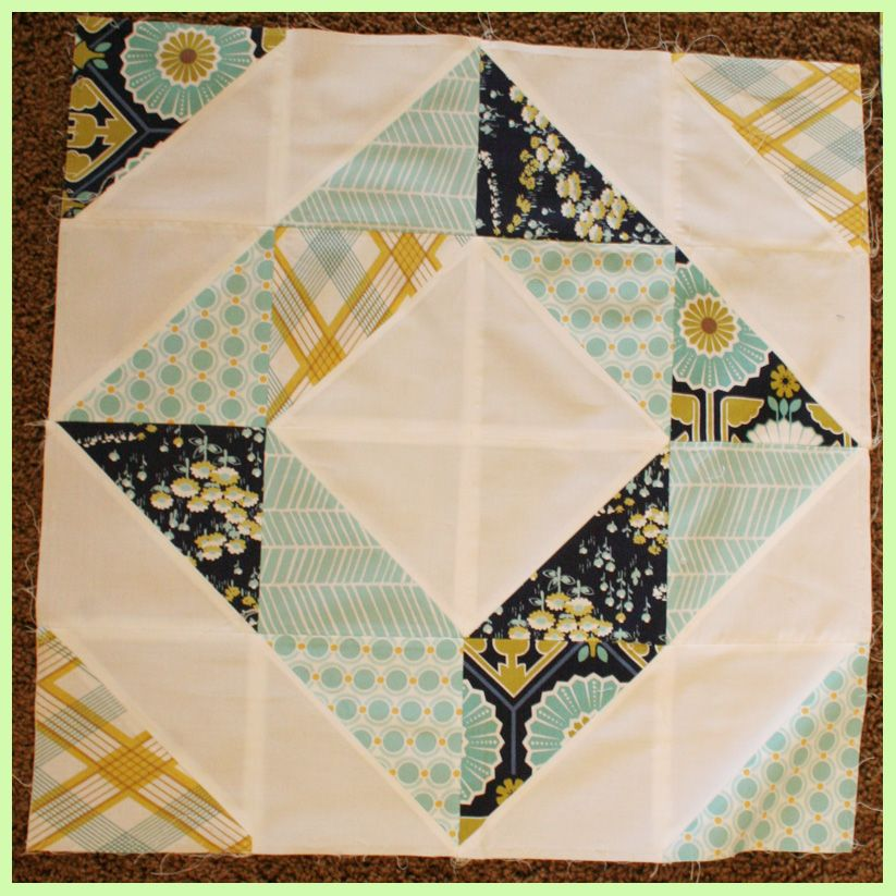 """""""Quilt Story: HST Quilt Tutorial part 2"""" One of the blocks."""