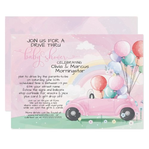 Drive By Baby Shower Balloons