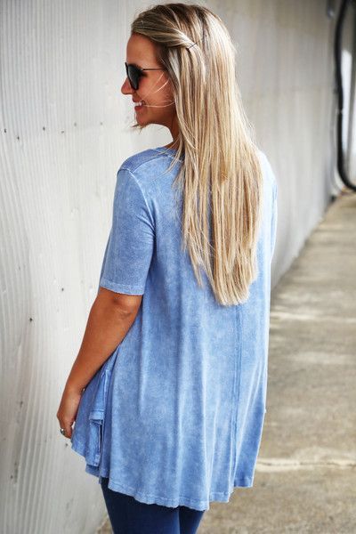 Anything At All Tunic {Blue} - The Rage