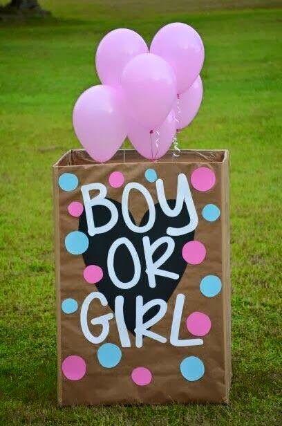 Baby Revealing Idea Boy Or Girl Super Cute Idea Baby Gender Reveal Party Gender Reveal Party Reveal Ideas