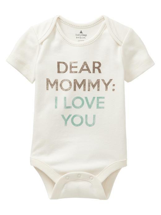Babygrow Mummy I Love You Baby Bodysuit