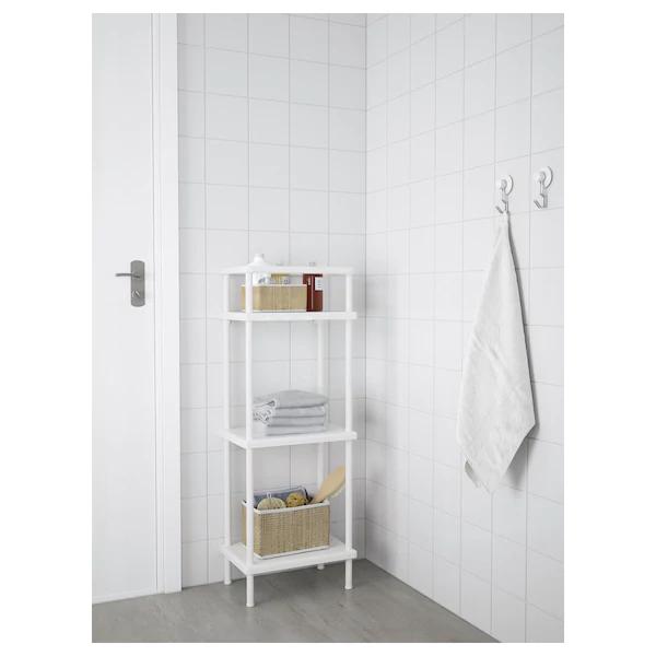 Dynan Shelf Unit With Towel Rail White 15 3 4x10 5 8x42 1 2 Ikea In 2020 Towel Rail Shelf Unit Modular Shelving
