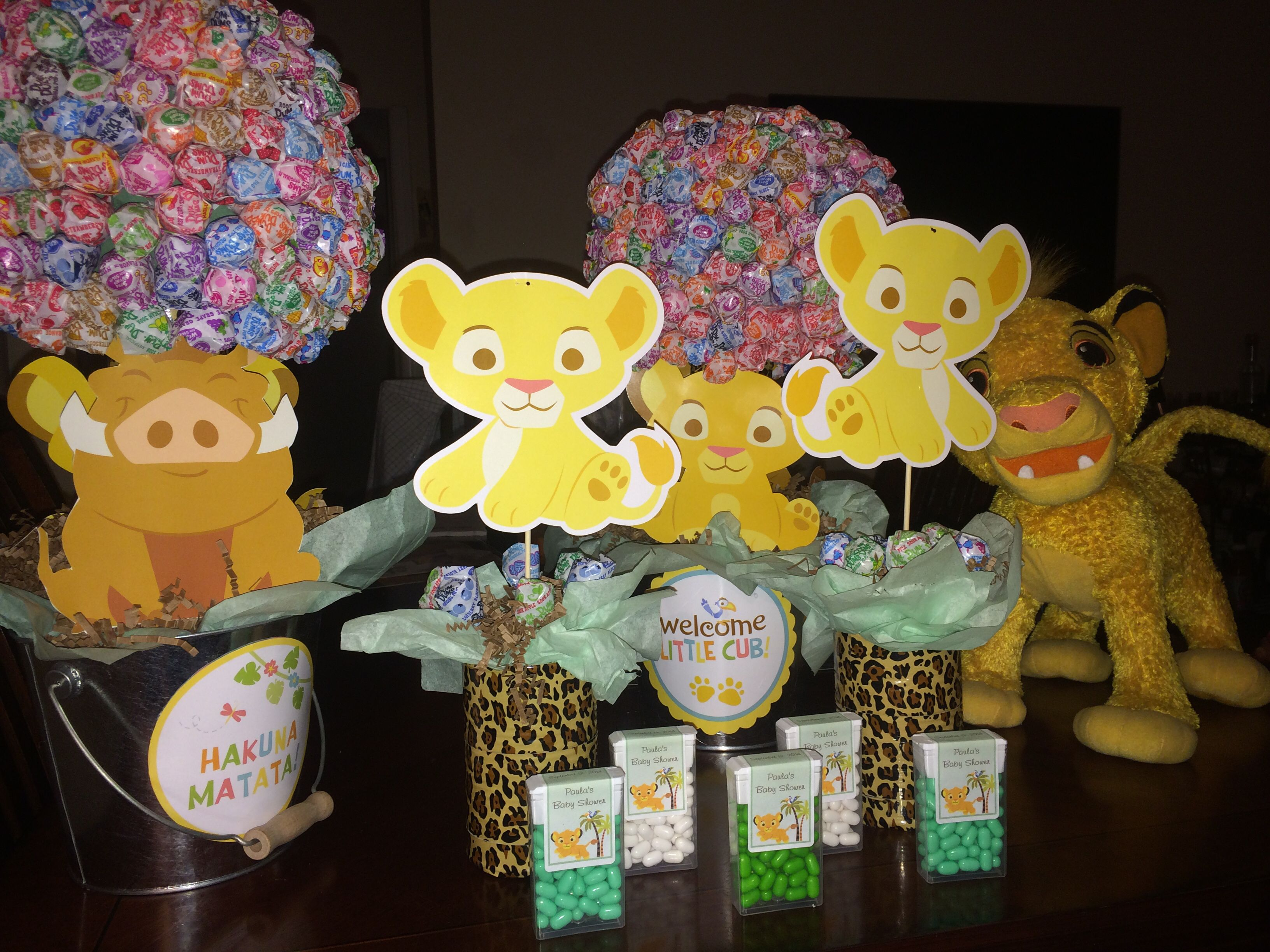 Lion King Party Center Pieces And Party Favors Safari Baby