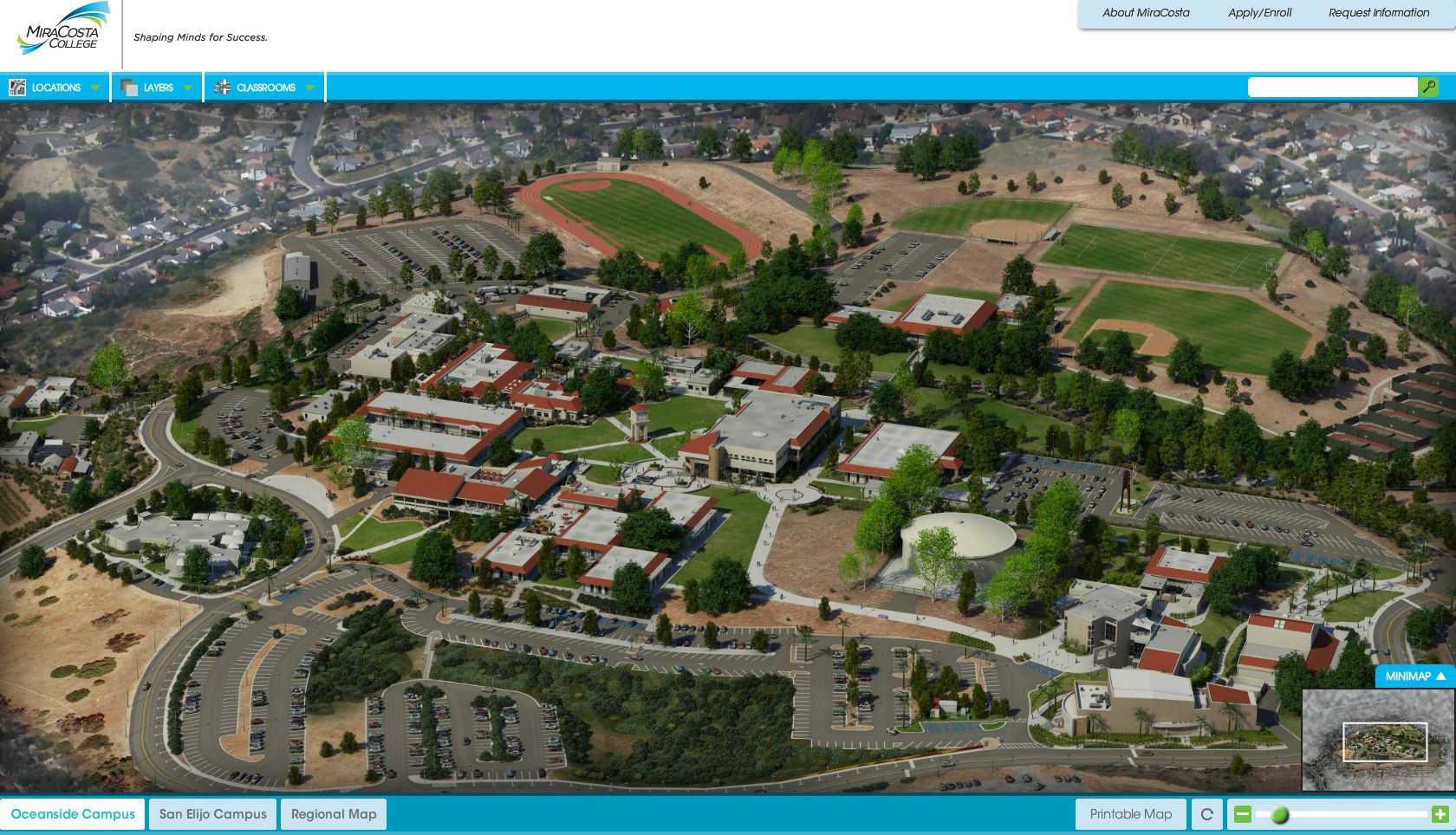 Oceanside Campus Map Web Screenshot Miracosta College Virtual