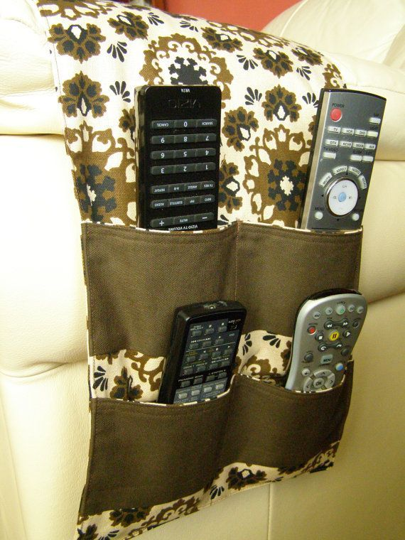 remote holder for chair directors replacement covers pattern pocket organizer caddy tv control 4 brown print neutral