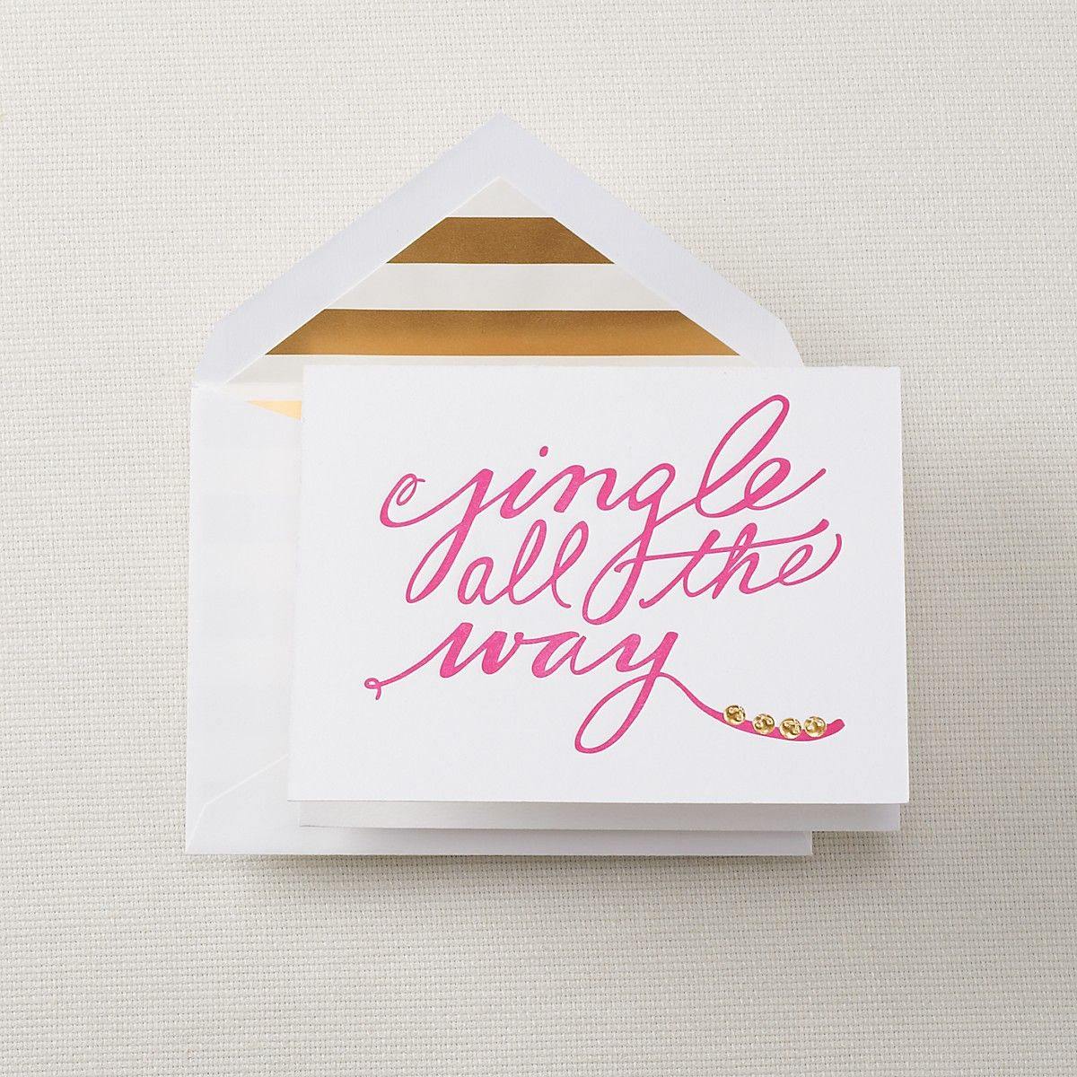 Kate Spade jingle all the way Holiday Cards | Bloomingdale\'s | White ...