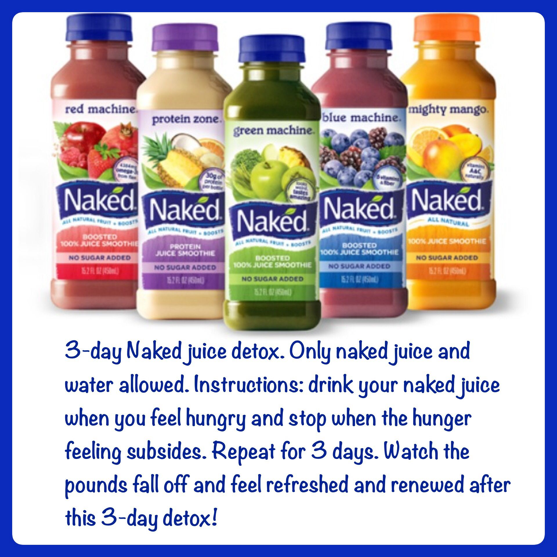 3-day naked juice detox. #fitness #weight loss #shred pounds ...