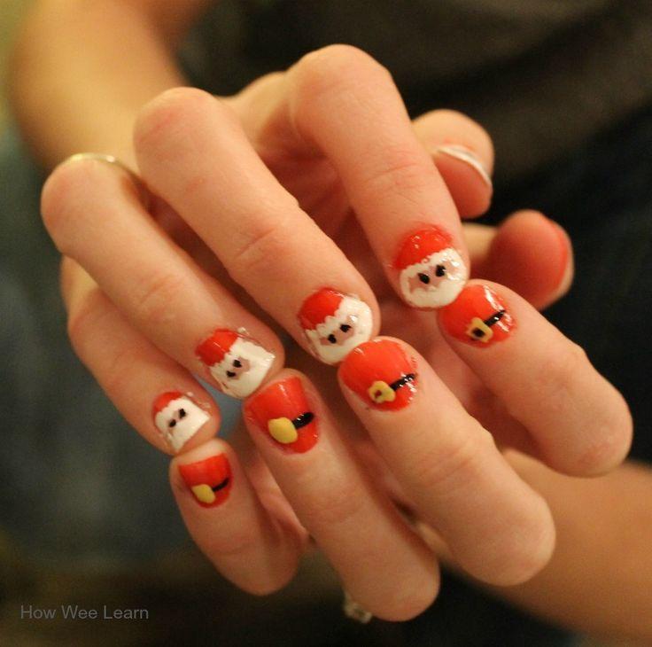 Santa Nail Design: Adorable and Simple | Santa nails, Santa and Teacher