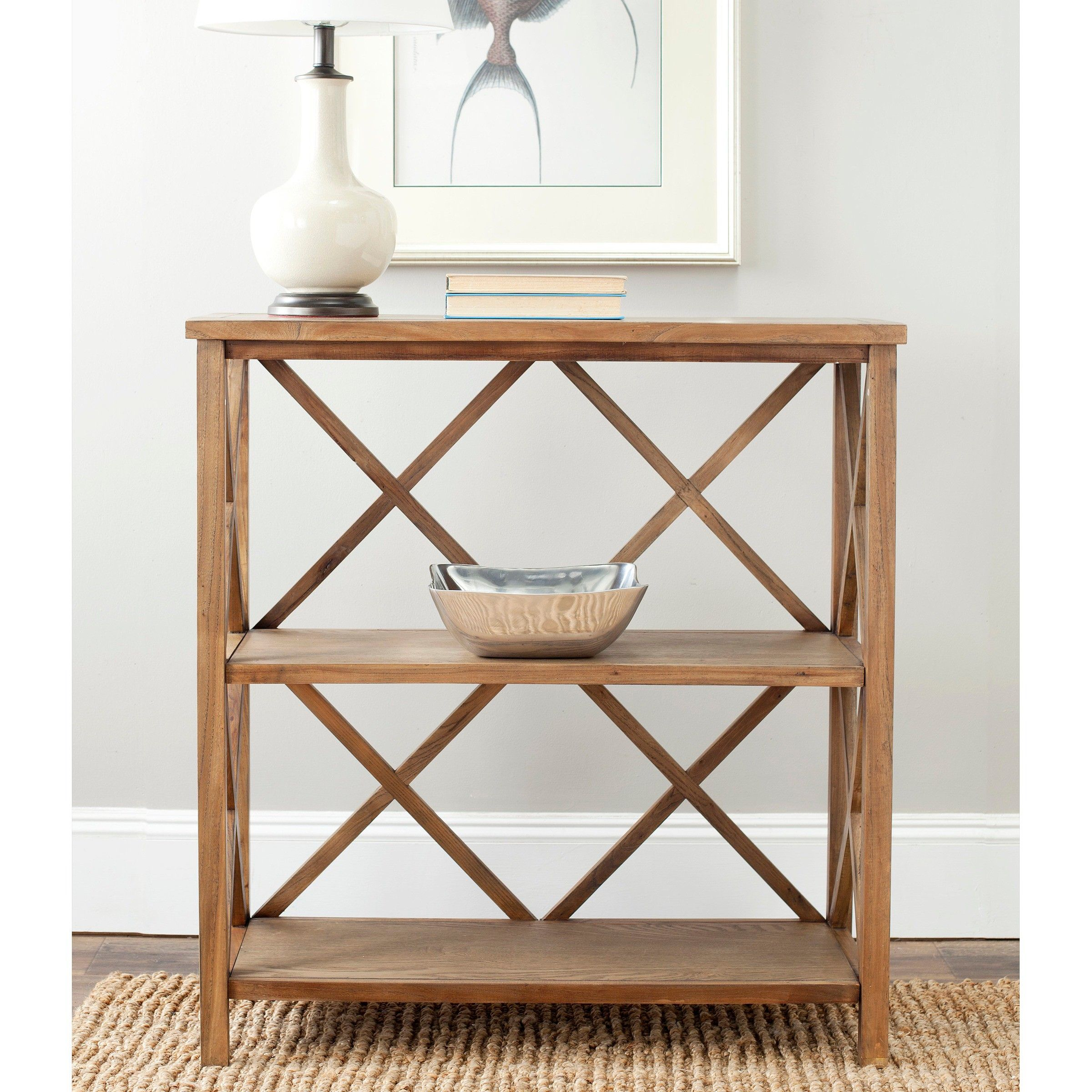 Safavieh Cava Bookcase Light Brown : Target