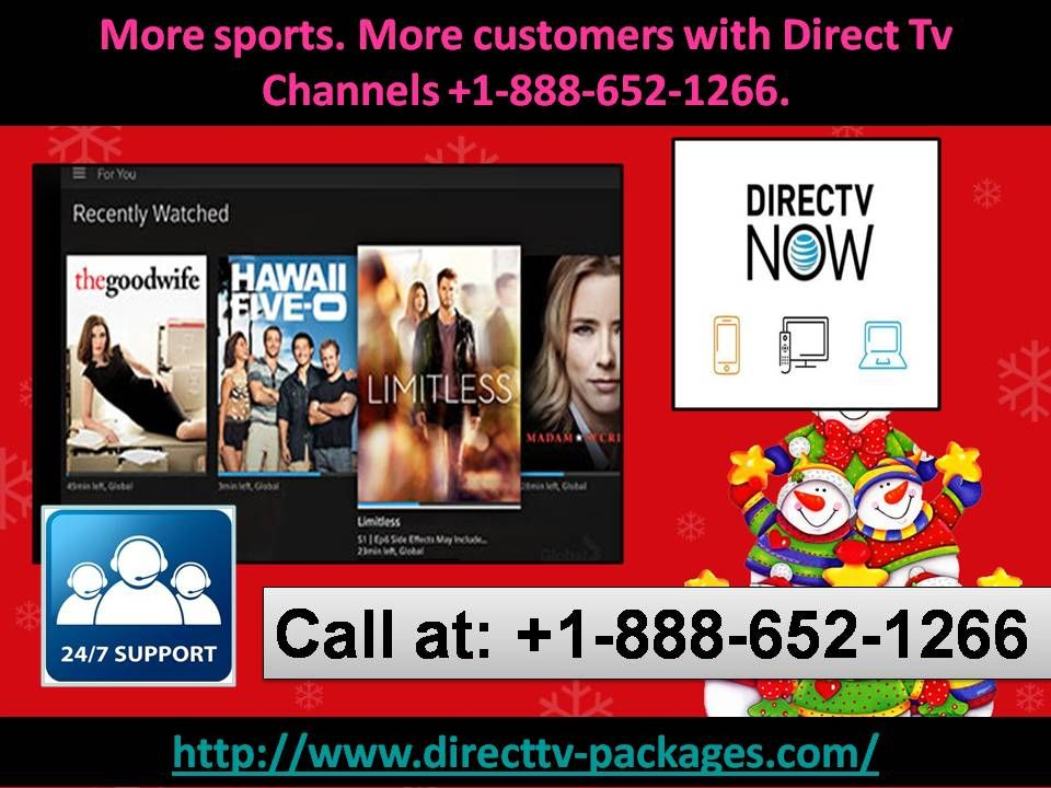 More sports. More customers with Direct Tv Channels 1888