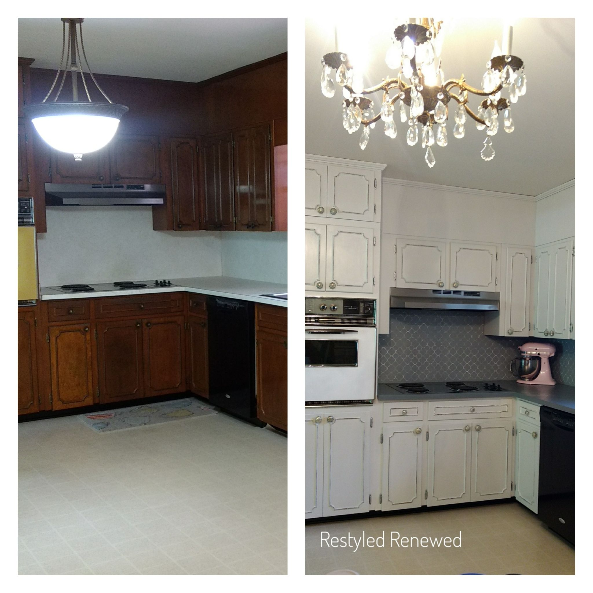 Our Kitchen Makeover Shabby Chic Furniture Before And After Painting Kitchen Cabinets Chic Home Decor