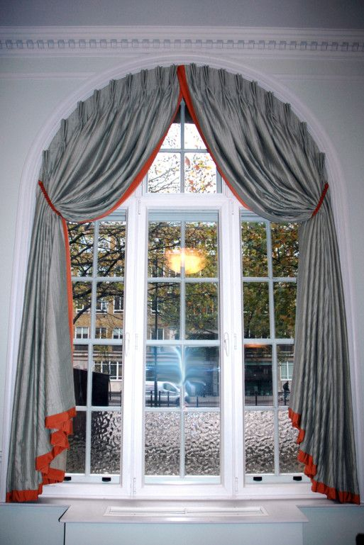 decor arch curtains arched coverings large ideas size drapes on window amazing best of for windows