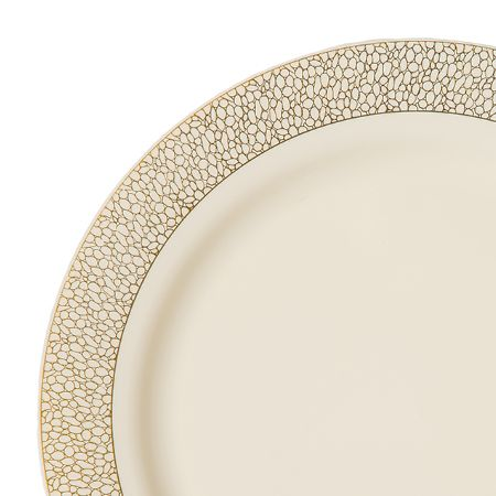 1280 10.25in Pebbles Ivory Gold Plastic Dinner Plates  sc 1 st  Pinterest & 1280 10.25in Pebbles Ivory Gold Plastic Dinner Plates | Accessorize ...