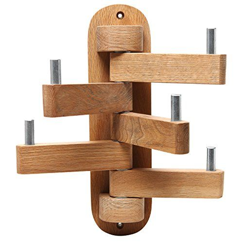 For Deck Country Rustic Wall Mounted Wooden 5 Swivel Coat Hooks