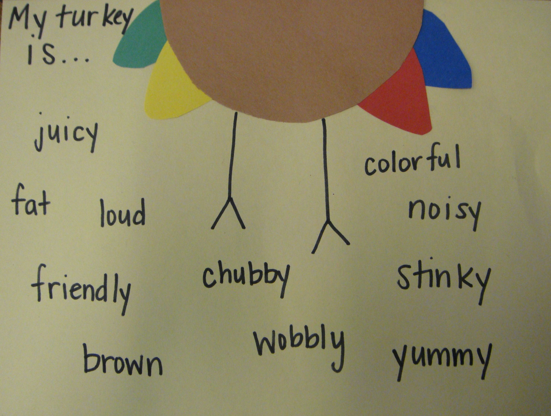 Turkey Describing Activity You Can Use Adjectives Or Read