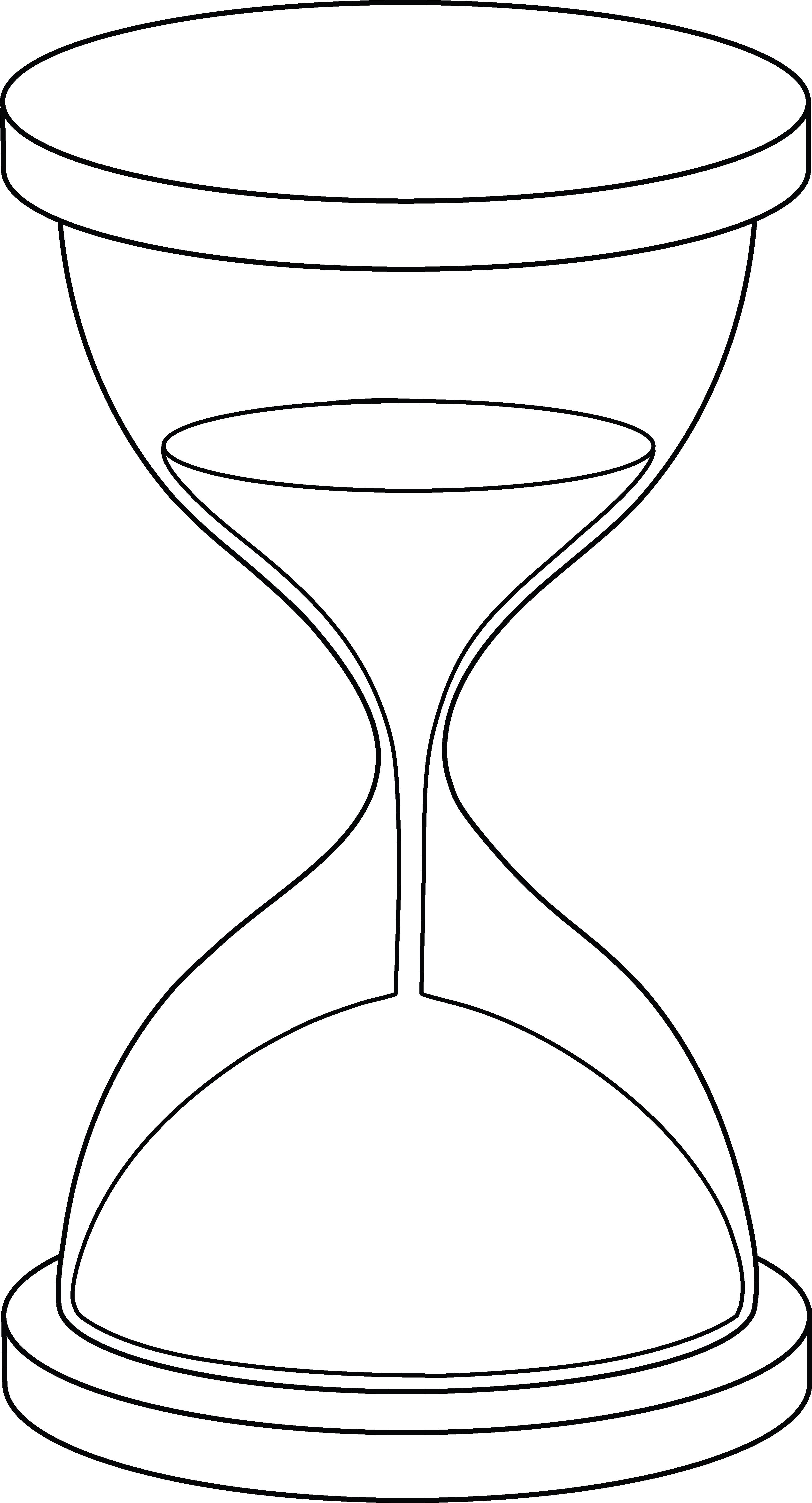 Hourglass Lineart Hourglass Drawing Hourglass Tattoo Line Art