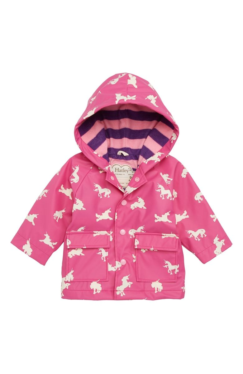 51381869f Free shipping and returns on Hatley Unicorn Waterproof Hooded Raincoat  (Baby) at Nordstrom.