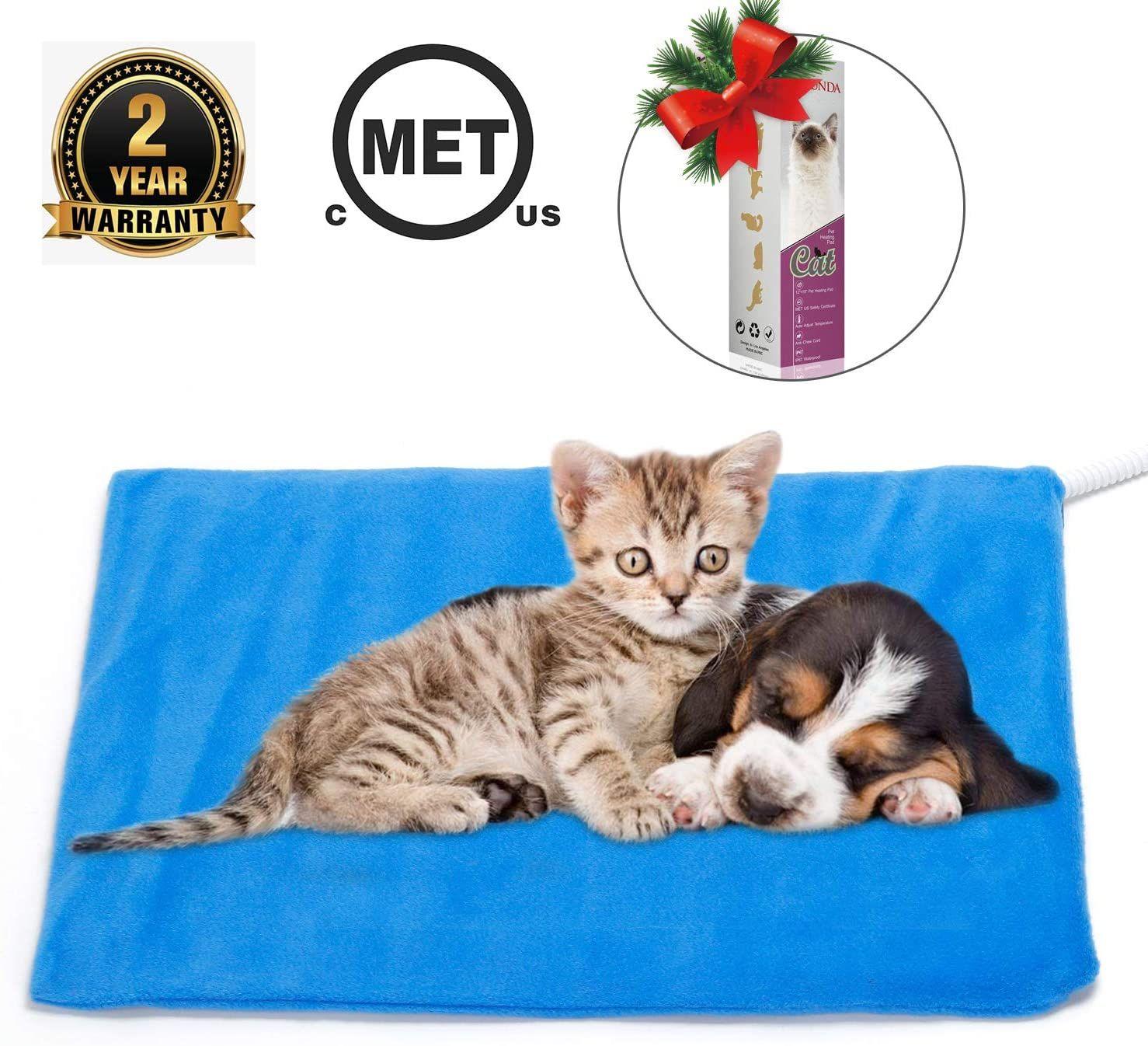 Marunda Pet Heating Pad Cat Dog Electric Pet Heating Pad Indoor Waterproof Auto Constant Tempera Pet Heating Pad Indoor Pets Pet Mat