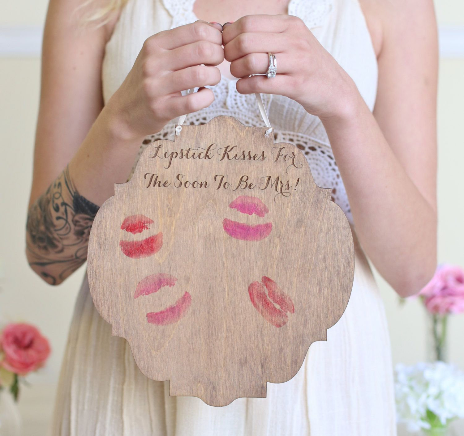 bridal shower guest book alternative sign by braggingbags on etsy 2650