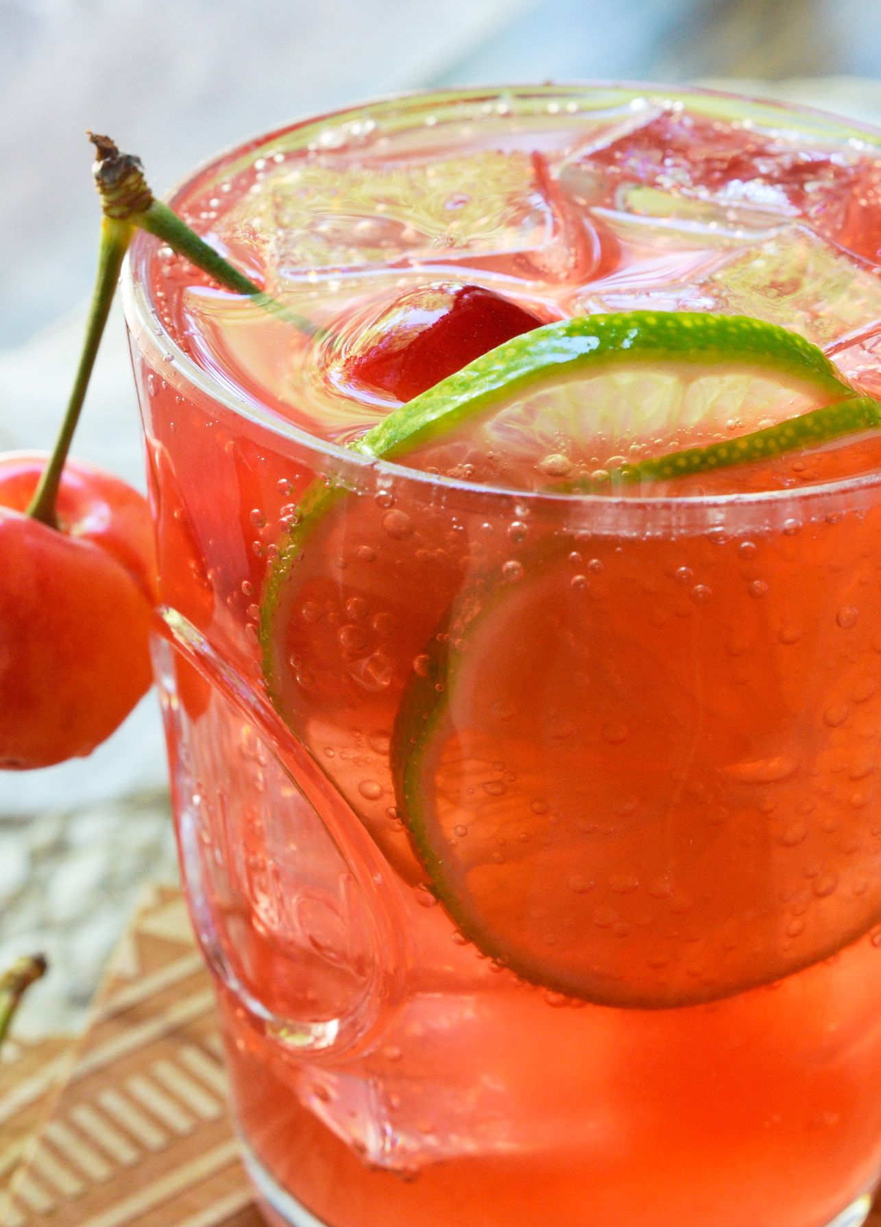 Warm Summer Days Can Only Get Better With This Refreshing Cherry Lime Tequila Tail Simple Summertime Drink Recipe Is Made Fresh